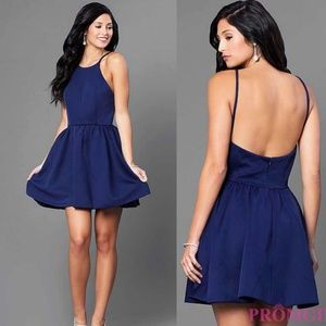 NWT Navy Blue Dress with High Neck